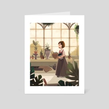 In the greenhouse - Art Card by Gloria DiIanni