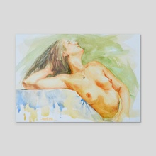 Female nude#20729 - Acrylic by Hongtao Huang