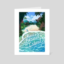 Besaid Island Travel Poster - Art Card by Leia Ham
