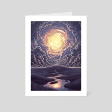 What Only Exists In The Mind (Midnight Version) - Art Card by Jeffrey Smith