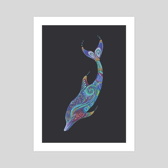 Dolphin Totem by Jennifer Hawkyard