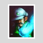 Super Luigi - Art Print by MARK CLARK II
