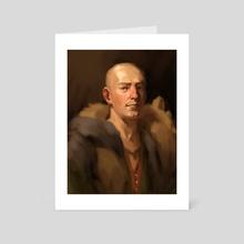 Peasant Portrait - Art Card by Zara Alfonso