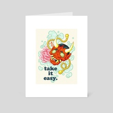 Take It Easy - Art Card by Alyssa Dulay