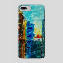 Old City Sky Scrapers - Phone Case by Vidka Art