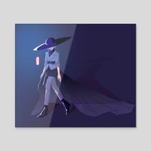 Luna - Fashionista - Acrylic by Y Phien Tra