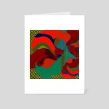 Abstract 7 - Art Card by Michal Eyal