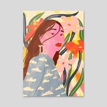 Capricorn - Acrylic by Florencia Fuertes