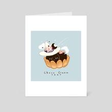 Choco Cream Cat - Art Card by Nadia Kim