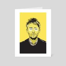 Thom Yorke - Art Card by Matt  Fontaine
