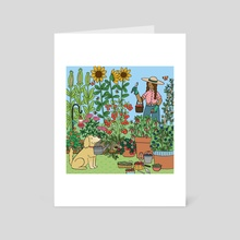 Summertime Harvest - Art Card by Mary Freelove