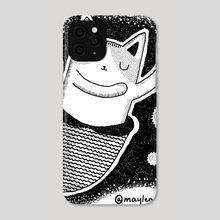 Dancing Meowmaid - Phone Case by Meilin Zhou