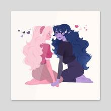 Marcie & PB - Acrylic by Karina Perez