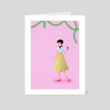 Audrey Hepburn (Roman Holiday) - Art Card by Lydia Pagán Franco