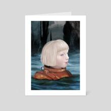 Blue Afternoon - Art Card by Dagmara Matuszak
