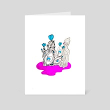 All Eyes On You  - Art Card by Emily  Allis
