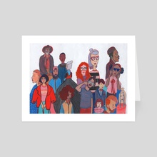 People by Normandie Luscher - Art Card by Artists for the People