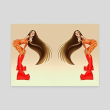 Double trouble - Canvas by Andrea Blume