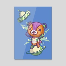 Stitches the Bear (Animal Crossing) - Acrylic by Gina