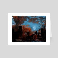 NYC Waterfront Abstraction - Art Card by Bruce Rolff