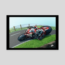 William Dunlop 2013 Isle of Man TT - Canvas by Rich Lee