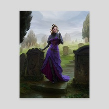 MtG - Liliana, Waker of the Dead - Canvas by Anna Steinbauer