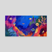 In the Reef - Canvas by Carly A-F