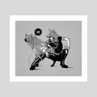 She Hyena - Art Print by Bazsó Lossonczy