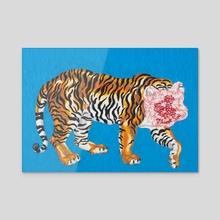 Bag Head Tiger - Acrylic by Andrea Bergen