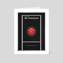 2001: A Space Odyssey - Art Card by Deniz Akerman