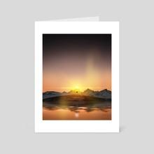 Bright Sunset - Art Card by Reed Novak