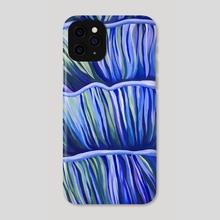 Blue Mushrooms - Phone Case by Kassie Stanley