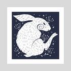 Dark Rabbit - Art Print by Bee