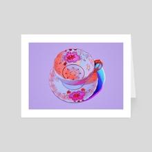 Tea Cup IV - Art Card by Meyoco