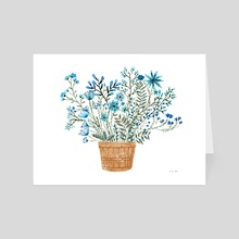 Flower Bucket - Art Card by Vikki Chu