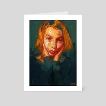 Orange Wedge - Art Card by John Larriva