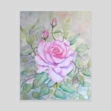 Roses watercolor - Canvas by Alberte Jonkers