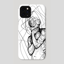 Introspective (white) - Phone Case by Jio Maia