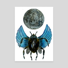 Moon Bug - Canvas by Sebastian Grafmann