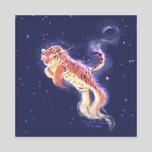 Stellar tiger - Canvas by Birgitte Johnsen