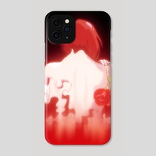 Girl With Rose - Phone Case by Kunal Kundu