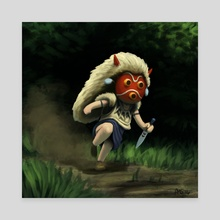 Mini Mononoke - Canvas by Aric Salyer