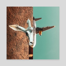 Fight or Flight - Canvas by Monica Carvalho