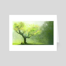 Under the Tree. - Art Card by Genevieve Franco