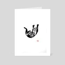 cat falling 02 - Art Card by philippe imbert