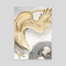 Griffin & Boy - Canvas by Julia Griffin
