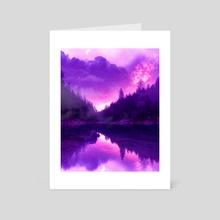 Dreamy Lake - Art Card by Jared Leonard