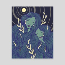 Breathe, Grow - Canvas by Danielle Morgan