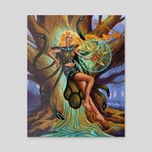 Mirela - Acrylic by Rene Arreola