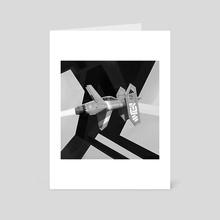Tri-Gannet B/W Version - Art Card by Isaac Barrett